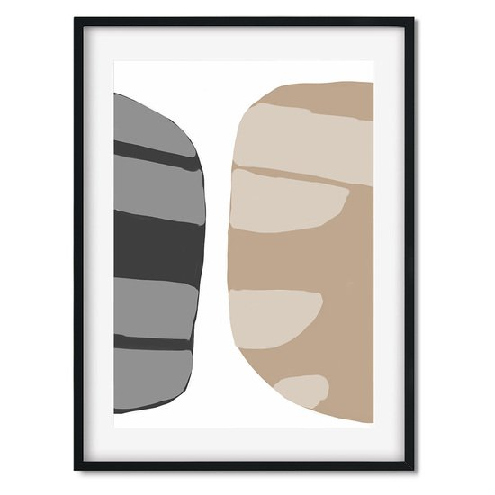 Beige abstract shapes 2   wall art print abstract house treniq 1 1563451208488