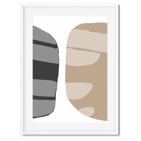 Beige abstract shapes 2   wall art print abstract house treniq 1 1563451208490