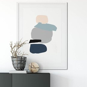 Minimal-Abstract-Shapes-4-Wall-Art-Print_Abstract-House_Treniq_0