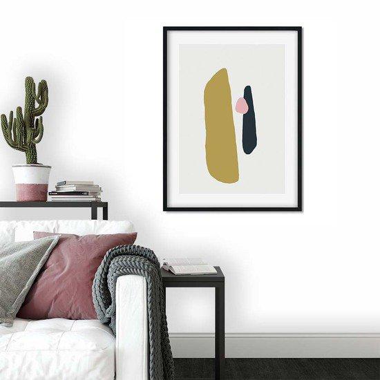 Mustard abstract shapes   wall art print abstract house treniq 1 1563452509614