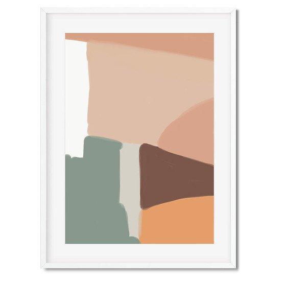 Beige abstract shapes   wall art print abstract house treniq 1 1563452779262