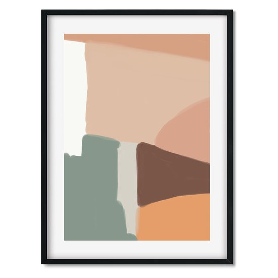 Beige abstract shapes   wall art print abstract house treniq 1 1563452779263