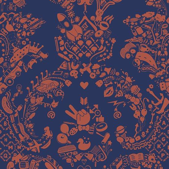 New world damask wallpaper  purple and orange mineheart treniq 1 1563895316533