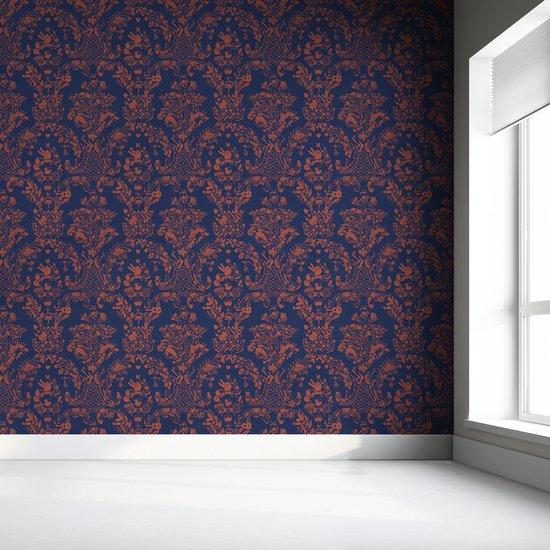 New world damask wallpaper  purple and orange mineheart treniq 1 1563895321025