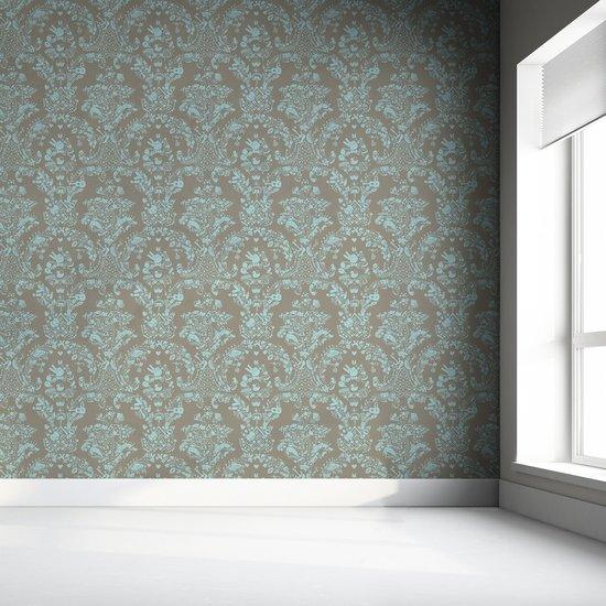 New world damask wallpaper  grey   blue mineheart treniq 1 1563976102722