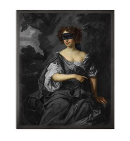 Blindfold-1-Framed-Printed-Canvas_Mineheart_Treniq_0