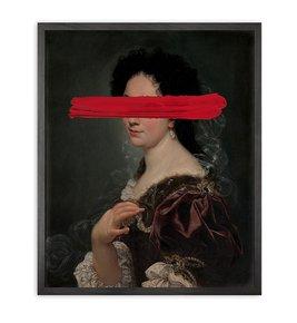 Red-Mark-Framed-Printed-Canvas_Mineheart_Treniq_0