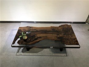1.40m-American-Black-Walnut-Fully-Encased-In-Resin_Mandara-Furniture_Treniq_0