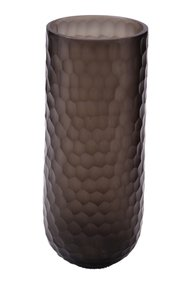 Anasa Black Glass  Honeycomb design Vase