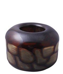 Anasa Black Glass Unique Ceramic Bowl Decorated