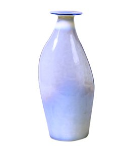 Anasa Blue Glass  white ceramic porcelain Vase