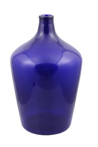 Anasa Blue Glass Cobalt Bottle Vase