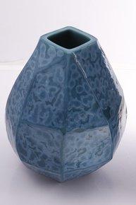 Anasa Blue Glass cuba vase