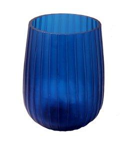 Anasa Blue Glass Hmmered  Vase