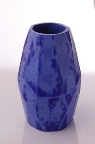 Anasa Blue Glass Ulta Opaque Pattar C4u 4Polish vase
