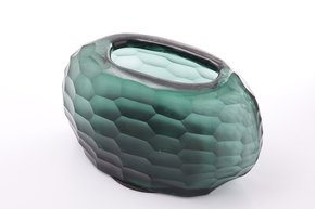 Anasa Green Glass  vase