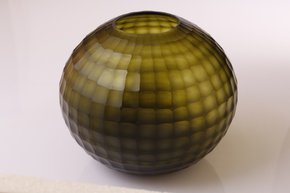 Anasa Green Glass Big round vase