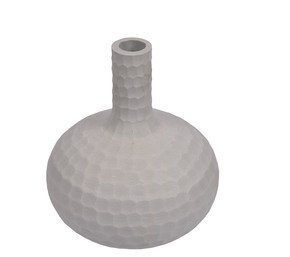 Anasa Grey Glass  Bottle Shape Vase