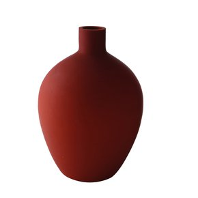 Anasa Red Glass Glossy  Color Ceramic Vase Big
