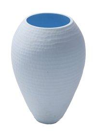 Anasa Sky Blue Glass Cuba Vase