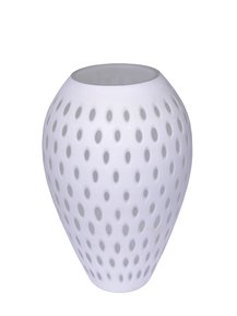 Anasa White Glass  Glorin Dotted Vase