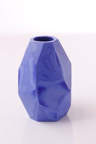 Anasa Blue Glass Ulta Opaque Pattar C4u 4Polish vase1
