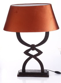 Anasa Black Wooden Table Lamp