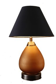 Anasa Brown Glass Table Lamp