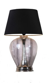 Anasa Clear  Glass Table Lamp