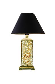 Anasa Gold Glass Table Lamp