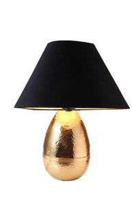 Anasa Golden Metal Egg Lamp Gold