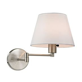 Anasa Silver Metal Wall Lamp