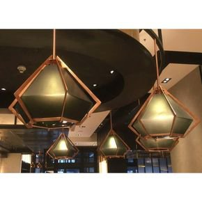 Anasa Green Glass CeilingPendant