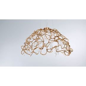 Anasa Golden Brass 1.5 Ft Chandelier