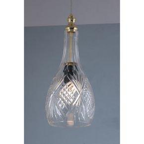 Anasa Transparent Glass Courbée Pendant