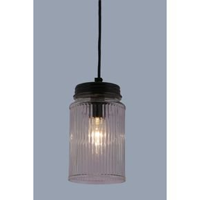 Anasa Transparent Glass Cylinder Pendant