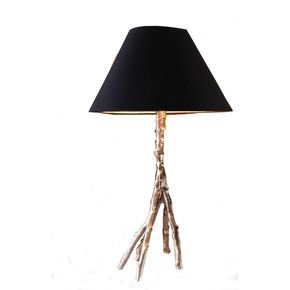 Anasa Silver Metal & Glass Tree Lamp Silver-1