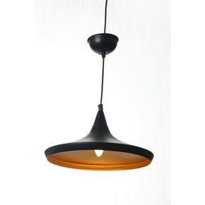 Anasa Black Metal Plate Ceiling Light