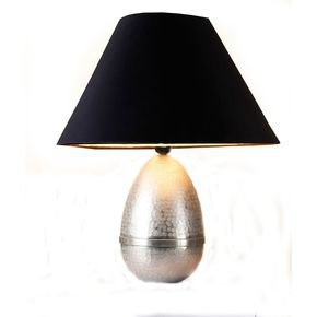 Anasa Silver Metal Egg Lamp-1