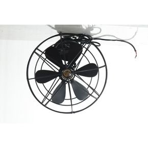 Anasa Black Metal Fan Ceiling Light