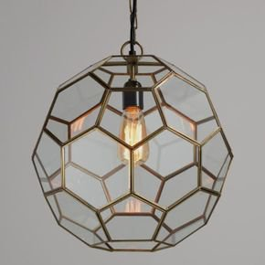Anasa Transparent Glass Pendants