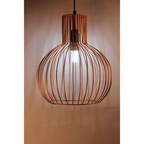 Anasa Copper Metal Wire Pendant