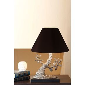 Anasa Silver Metal Tree Lamp