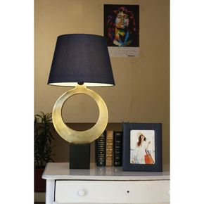 Anasa Golden Metal O Shaped Lamp-1