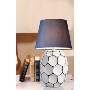 Anasa White Metal Geomatric Shape Lamp-1