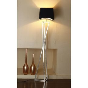 Anasa Silver Metal X Shape Lamp
