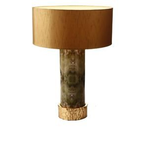 Anasa Green Metal Marble Finish Lamp-1
