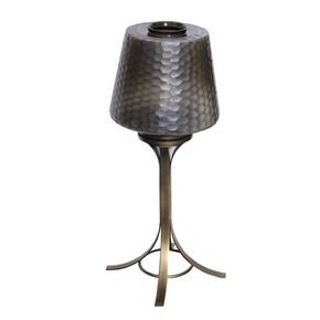 Anasa Golden Metal Dkny Pedstal Lamp Small