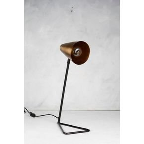 Anasa Golden/ Black Cone BrassPipe Ms Table Lamp