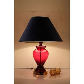 Anasa Pink Glass Table Lamp